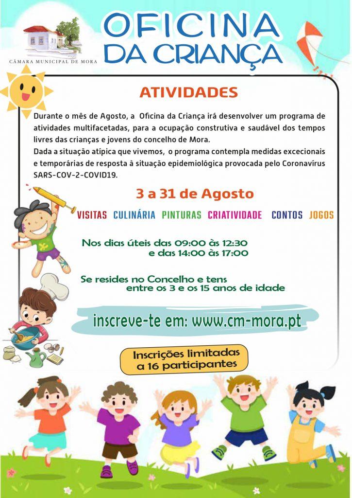 Cartaz Oficina da Criança - Agosto 2020