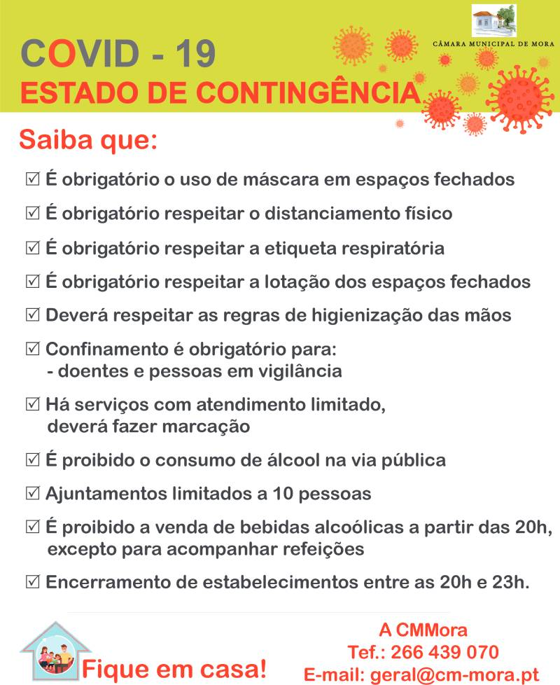 Medidas do Estado de Contingência