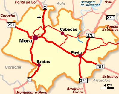 Mapa Mora